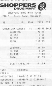 Shoppers-receipt